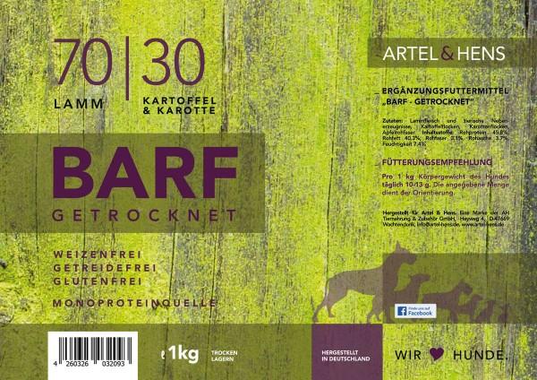 BARF getrocknet 70 / 30 Lamm