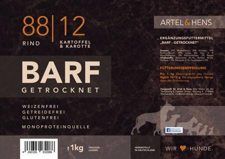 BARF getrocknet 88 / 12 Rind
