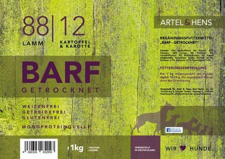 BARF getrocknet 88 / 12 Lamm
