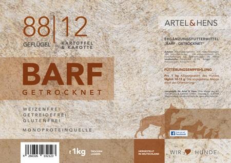 BARF getrocknet 88 / 12 Geflügel